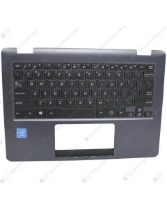 Asus TP202N TP202NA Replacement Laptop Uppercase / Palmrest with US Keyboard 90NB0H01-R30000