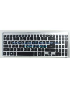 Acer Aspire V5 Series V5-571 V5-571P MS2361 Replacement Laptop Keyboard with SILVER FRAME NSK-R3KBW 9ZN8QBWK1D NEW