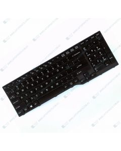 Fujitsu LifeBook E556 Replacement Laptop US Black Keyboard with Frame