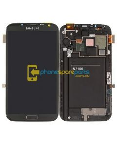Galaxy Note 2 4G N7105 LCD and touch screen assembly with frame Grey - AU Stock