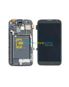 Galaxy Note 2 N7100 LCD and touch screen assembly with frame Grey - AU Stock