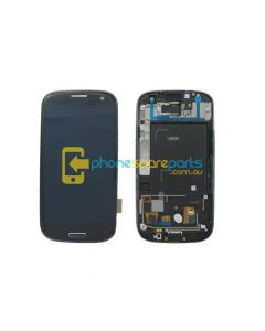 Galaxy S3 4G i9305 LCD and touch screen assembly with frame Grey - AU Stock