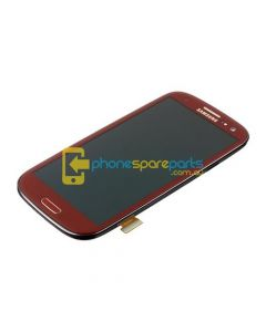 Galaxy S3 4G i9305 LCD and touch screen assembly with frame Red - AU Stock