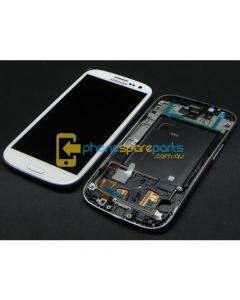 Galaxy S3 4G i9305 LCD and touch screen assembly with frame White - AU Stock