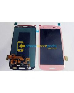 Galaxy S3 i9300 LCD and touch screen assembly with Frame Pink - AU Stock