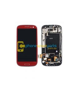 Galaxy S3 i9300 LCD and touch screen assembly with frame Red - AU Stock