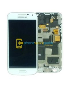 Galaxy S4 Mini i9195T LCD and Touch Screen Assembly with Frame White W/FRAME