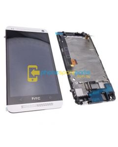 HTC One M7 LCD and Touch Screen Assembly with Silver Frame - AU Stock
