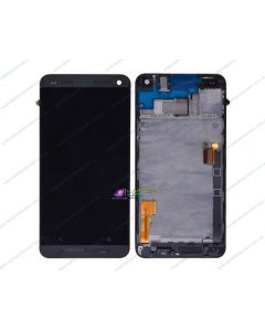 HTC One 801e M7 Replacement LCD Touch Screen Digitizer With Frame Bezel BLACK - New AU STOCK