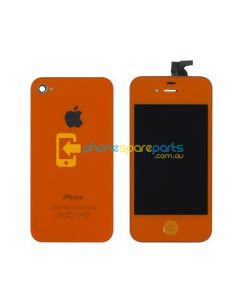 iPhone 4 LCD and touch screen assembly + button + back cover [LIGHT BLUE]