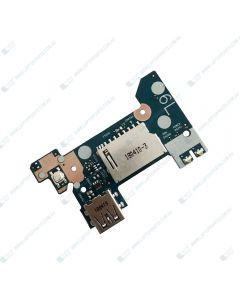 HP 14S-DK0020AU 6QN03PA CARD READER W/ USB BOOARD CABLE L23186-001