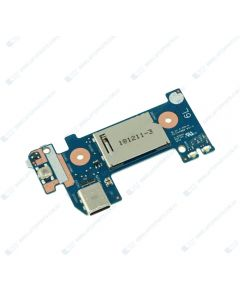 HP 14-DF 14-DF0018WM Replacement Laptop Power Button Board with USB Card Reader and Cable L24483-001 6050A2979701