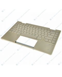 HP ENVY 13-BD0044TU Replacement Laptop Upper Case / Palmrest with US Backlit Keyboard (PALE GOLD) M15291-001