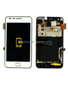 Samsung Galaxy S2 i9100 screen display assembly White without frame