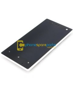 Sony Xperia Acro S Lt26w LCD and Touch Screen Assembly with Frame White - AU Stock
