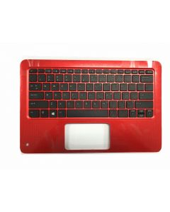 HP ProBook x360 11 G1 EE 1BZ55LA Replacement Laptop Upper Case / Palmrest with Keyboard (RED RADIANT) 918554-001