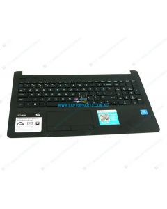 HP 15-BS 15-BS020WM Replacement Laptop Upper Case / Palmrest with US Keyboard and Touchpad (Jet Black) 925008-001