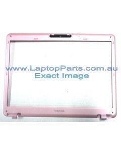 Toshiba Portege M800 (PPM81A-08S01S)  LCD BEZEL ASSY WCCD PINK SP SG A000023350