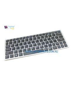 Sony PCG31311W VPCYB16KG VPC-YA / YB Replacement Laptop Keyboard Silver Frame Black Keys A1807420A