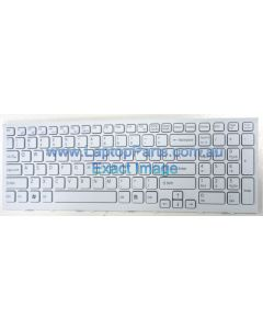 Sony Vaio VPCEH VPC EH VPC-EH Series VPCEH15FX Replacement Laptop Keyboard WHITE 148971311 AEHK1U00020 28X00072 V116646F US NEW