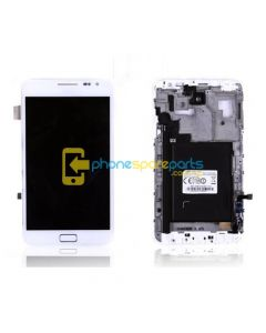 Galaxy Note N7000 LCD and touch screen assembly with frame White - AU Stock