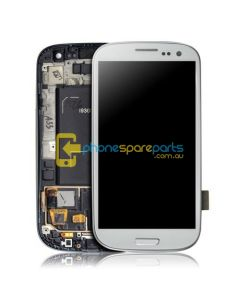 Galaxy S3 i9300 LCD and touch screen assembly with frame White - AU Stock
