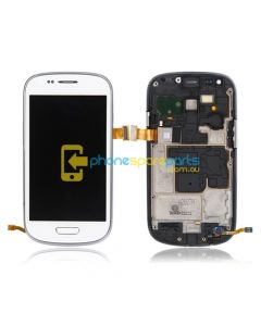 Galaxy S3 Mini i8190 LCD and Touch Screen Assembly with Frame White - AU Stock
