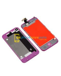 iPhone 4 LCD and touch screen assembly + button + back cover [ORANGE]