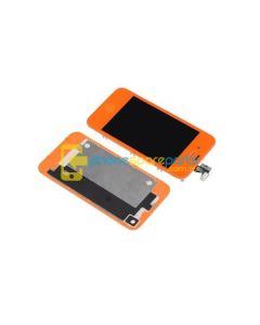iPhone 4 LCD and touch screen assembly + button + back cover [RED]
