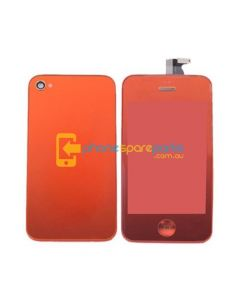 iPhone 4 LCD and touch screen assembly + button + back cover [YELLOW]