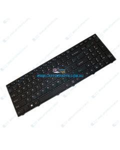Clevo N855HK N855HJ N857HJ N857HK N850HJ Replacement Laptop US Black Keyboard with Frame (White Backlit)