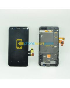 Nokia Lumia 620 LCD and Touch Screen Assembly with Frame Black - AU Stock