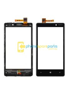 Nokia Lumia 820 Touch glass with frame (without screen)