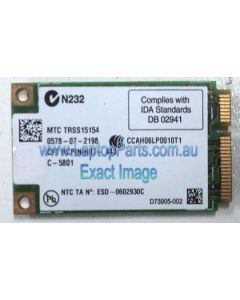 Toshiba PORTEGE R500 (PPR50A - 07R05C) Replacement Laptop Wireless LAN Card PA3538U-1MPC USED