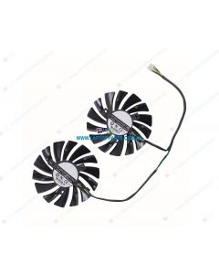 MSI RX580 Replacement Graphics Card Cooling Fan PLD09210S12HH (2 Fans)
