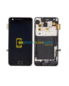 Samsung Galaxy S2 i9100 screen display assembly Black with frame