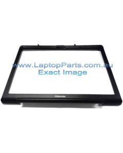 Toshiba Satellite A200 (PSAF6A-07G01N)  LCD FRONT COVER 15.4 For Models With Camera  V000100010